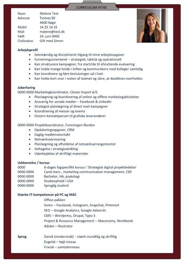 1 CV_Marketingkoordinator_med_arbejdsprofil