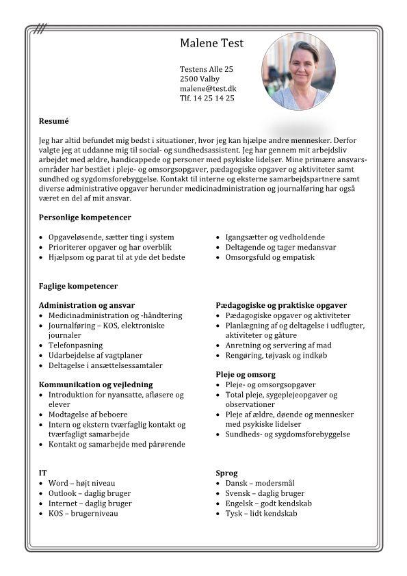 1 Kompetence CV med faglige færdigheder