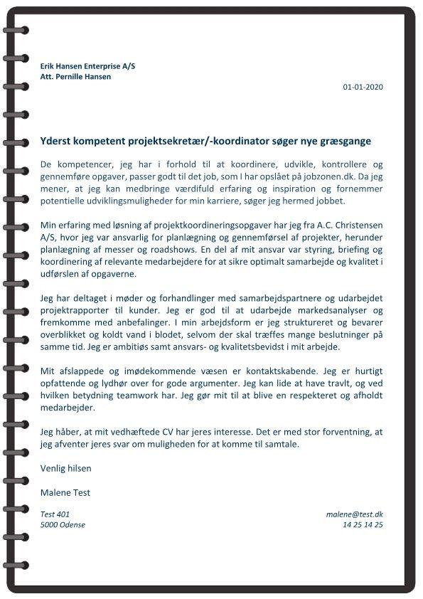 1 Projektsekretær - udvikle koordinere og kontrollere