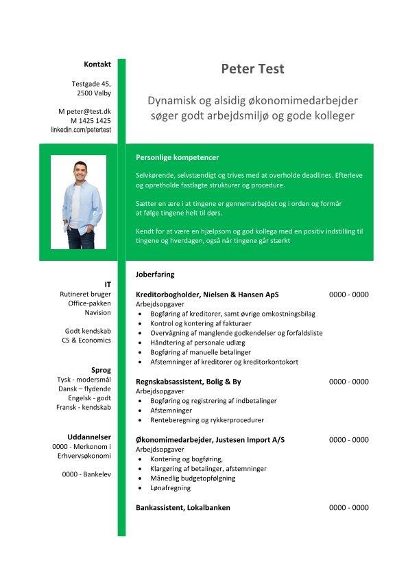 1 Layout - CV - Økonomi - grøn