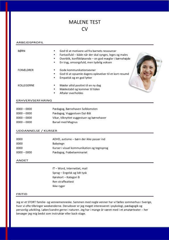 1 Layout-CV-med-arbejdsprofil-blå