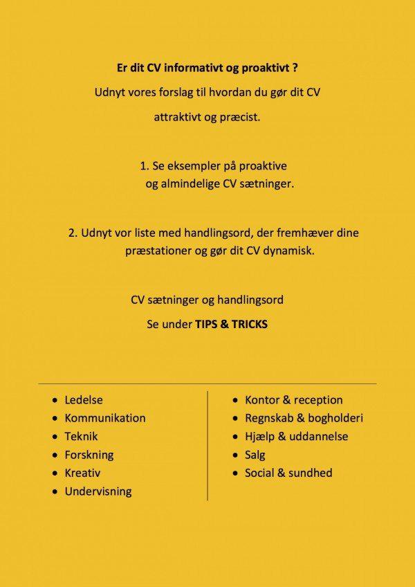CV Handlingsord