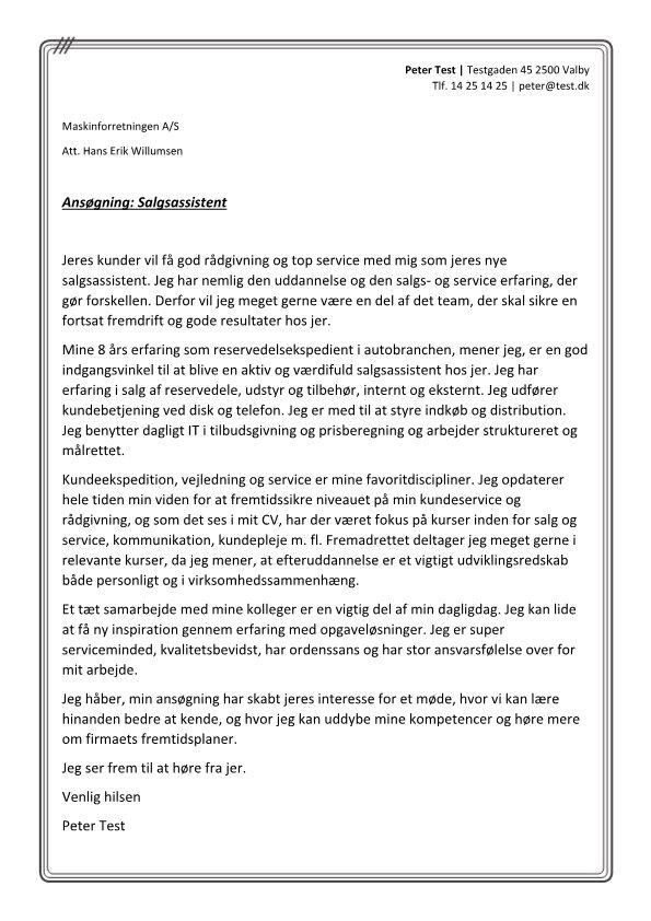 1 Salgsassistent - rådgivning og service