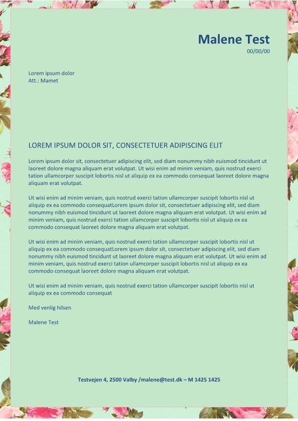 Ansøgning-og-CV-layout-med-blomster