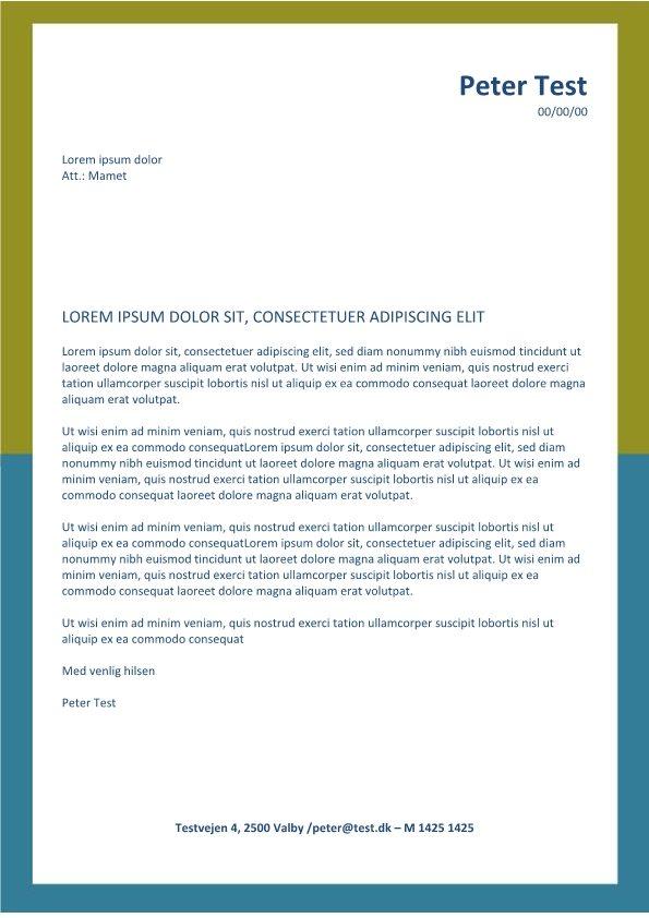 Ansoegning-og-CV - layout med gul ramme-page1