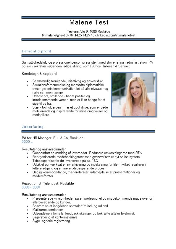1 CV_med_personlige_profil_Nøgleord-blå-sort