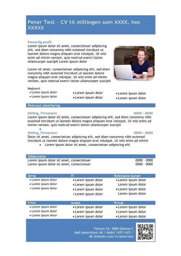 1 Skabelon_CV_med_profil_i_tabelform_blå