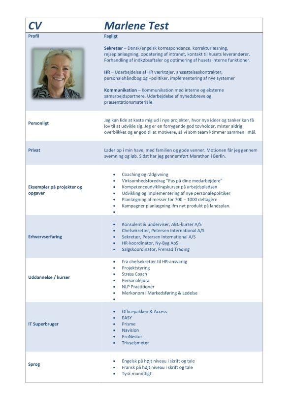 CV uden årstal - blå