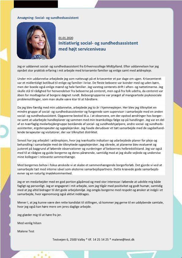1 Social og sundhedsassistent med højt serviceniveau