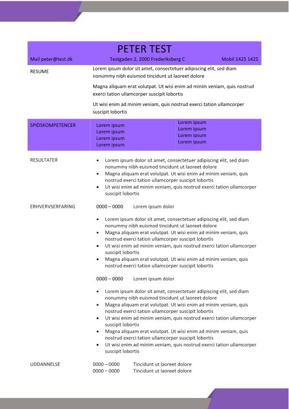 2-CV skabelon - lilla og brun