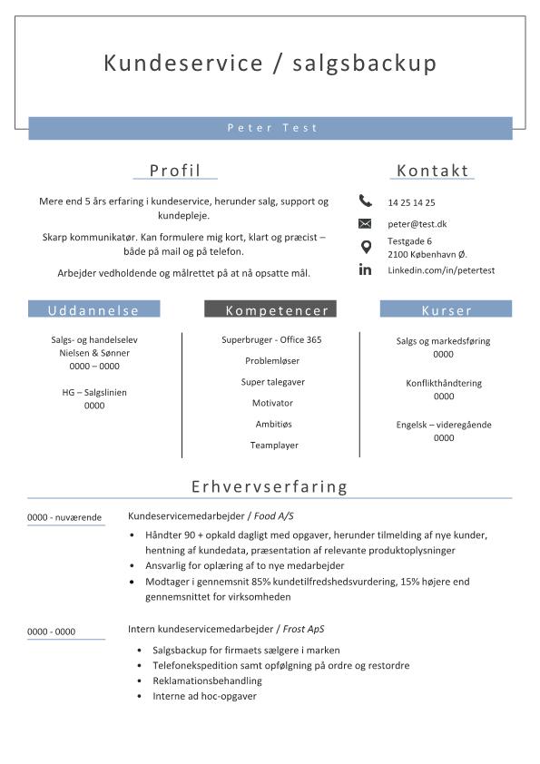 2-CV kundeservice salgsbackup