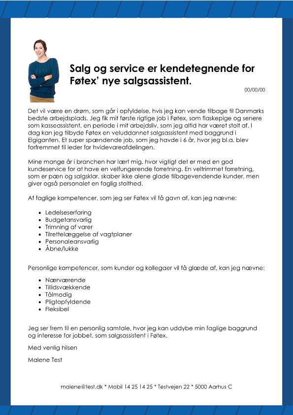 2-Salgsassistent - Føtex - uopfordret