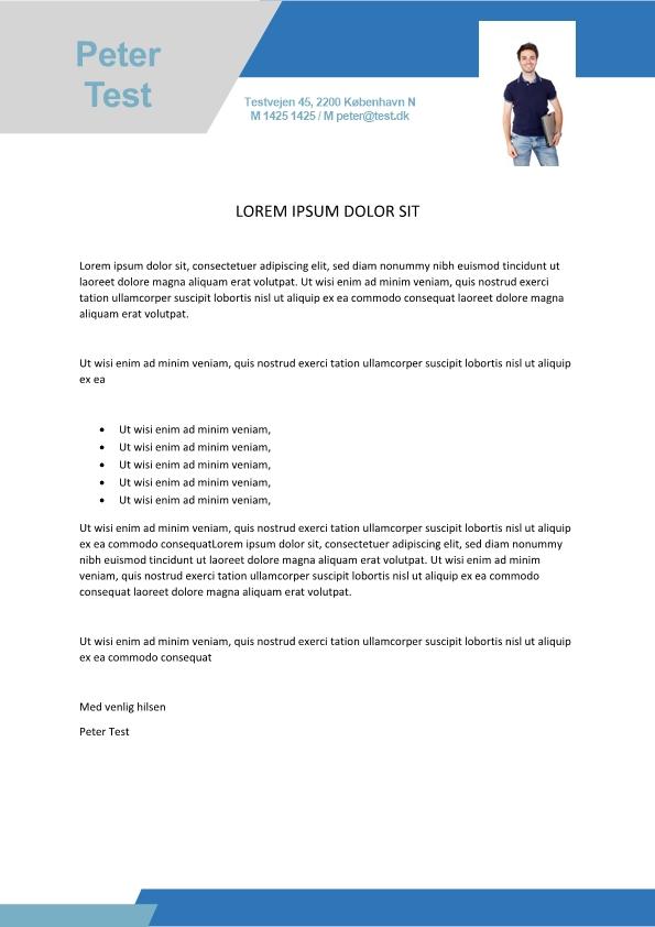 2-Ansøgning og CV med billede - 2 sider