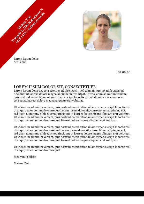 2-Ansøgning og CV med billede og tekstboks