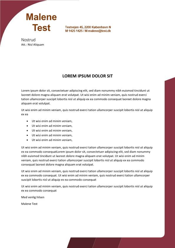 2-Ansøgning og CV med kant - 2 sider