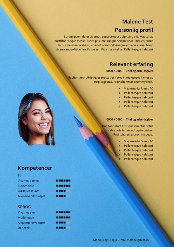 2-CV med blyanter - tekstbokse