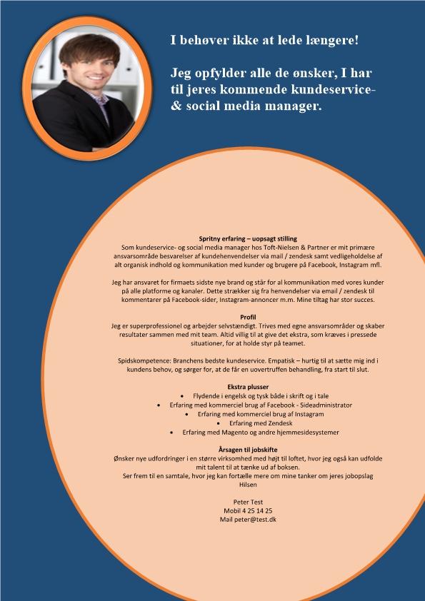 2 - Ansøgning Kundeservice - og social media manager
