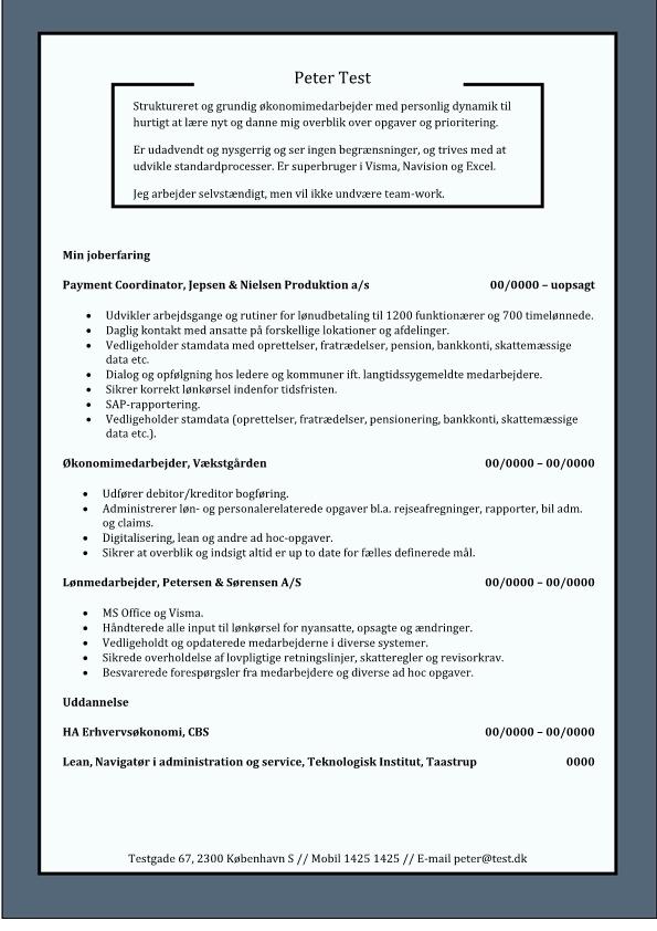 2 - CV Økonomimedarbejder