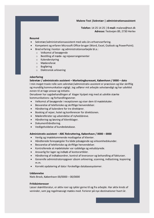 2 - CV Administrationsassistent