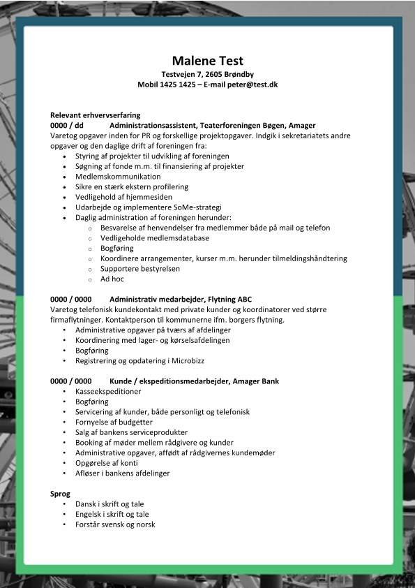 2 - CV Administrationsmedarbejder