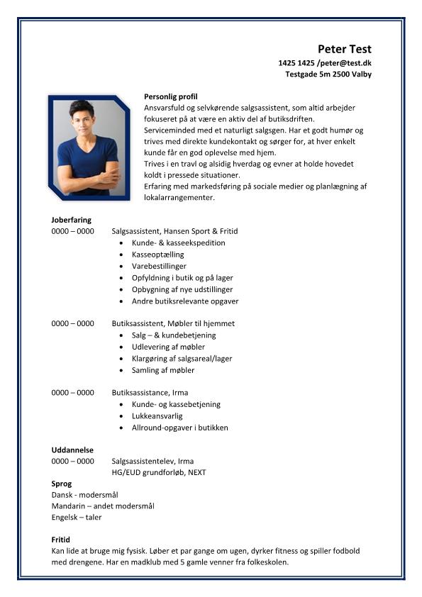 2 - CV Butiks- og salgsassistent