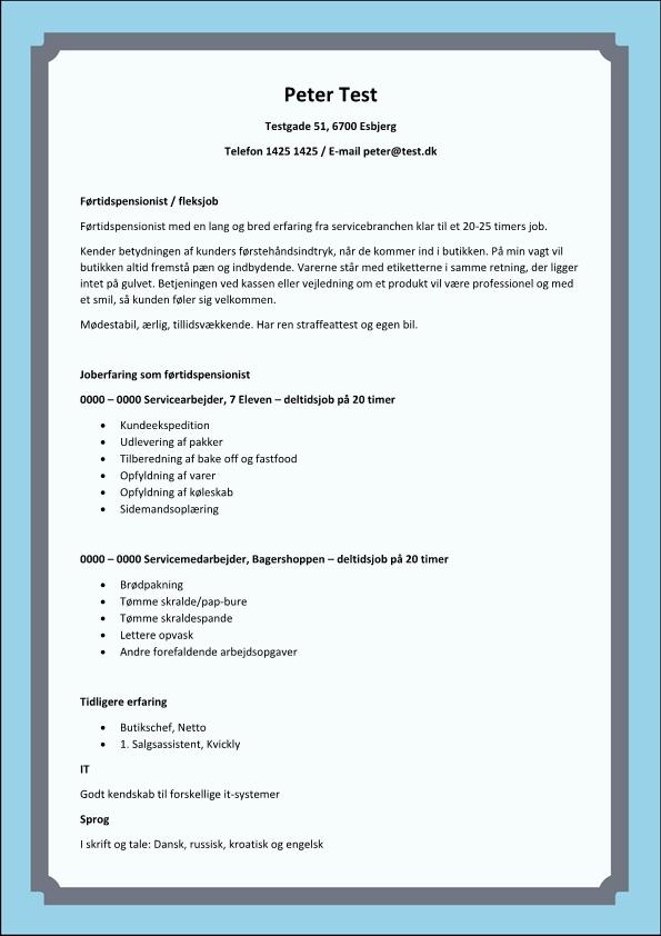 2 - CV Førtidspensionist - fleksjob