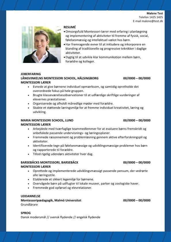 2 - CV Grundskolelære Montessori