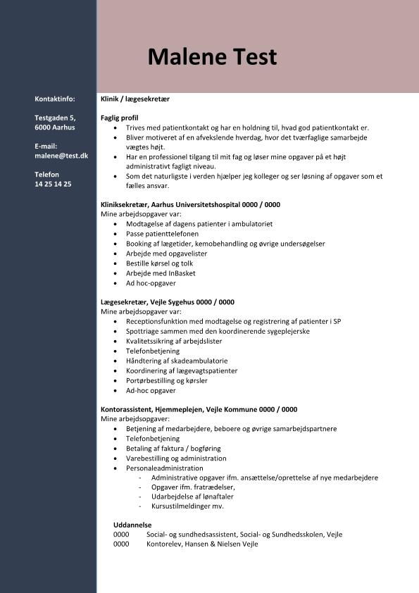 2 - CV Klinik - lægesekretær