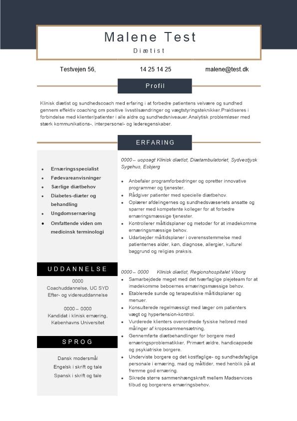 2 - CV Klinisk diætist