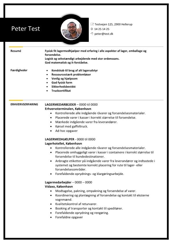 2 - CV Lagermedarbejder