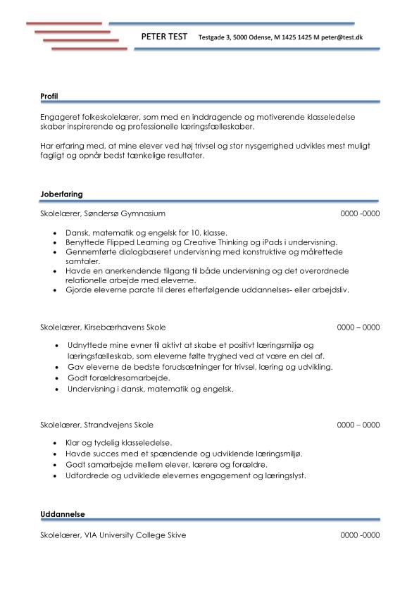 2 - CV Folkeskolelærer