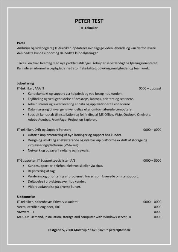 2 - CV IT tekniker