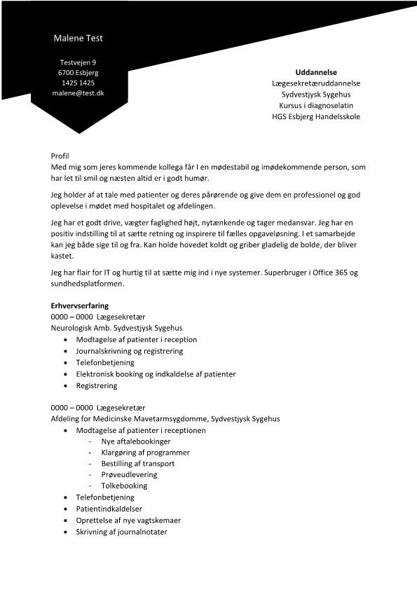2 - CV Lægesekretær med flair for IT
