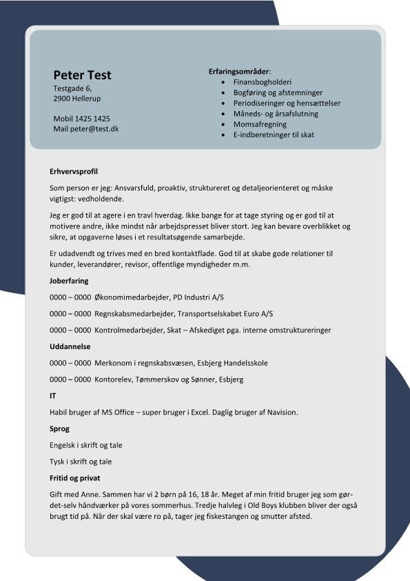 2 - CV Regnskabs- og økonomimedarbejder