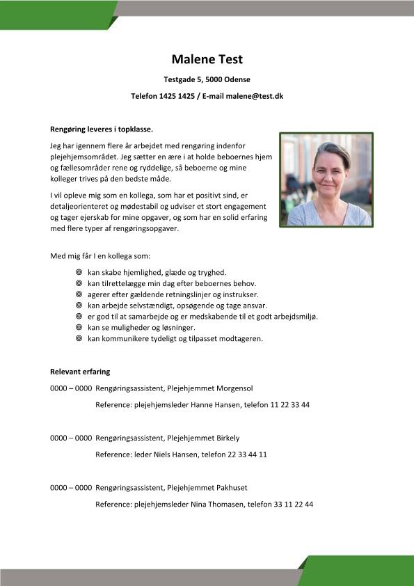 2 - CV Rengøring - plejehjem