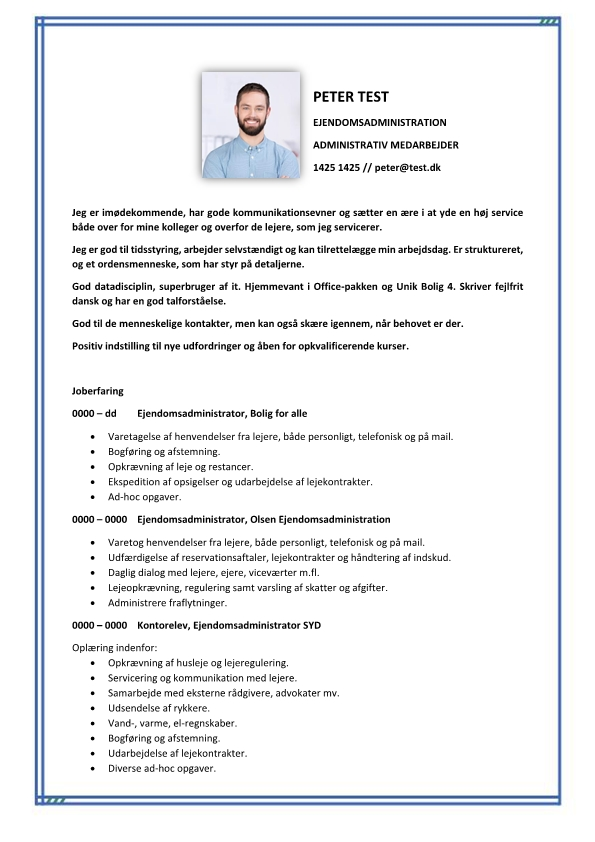 2 - CV Ejendomsadministration – administrativ medarbejder