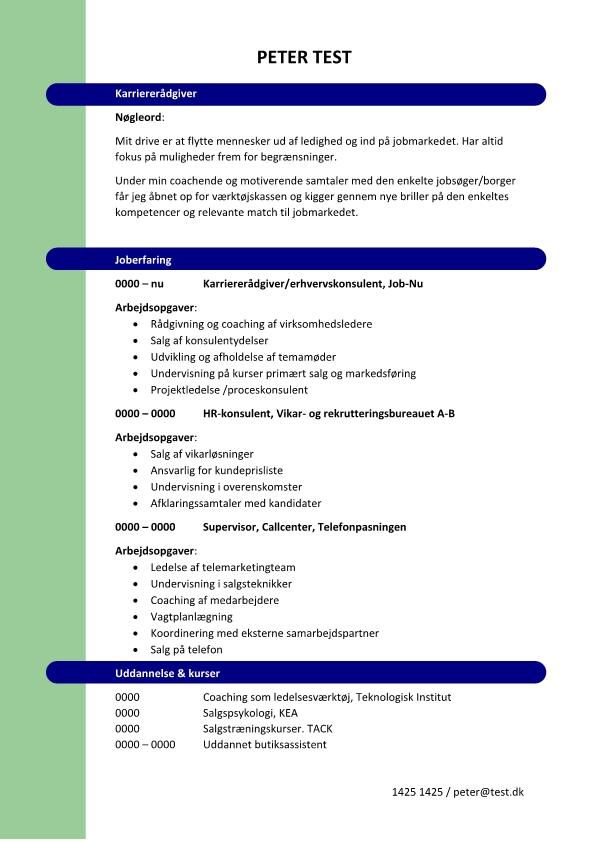 2 - CV Karriererådgiver
