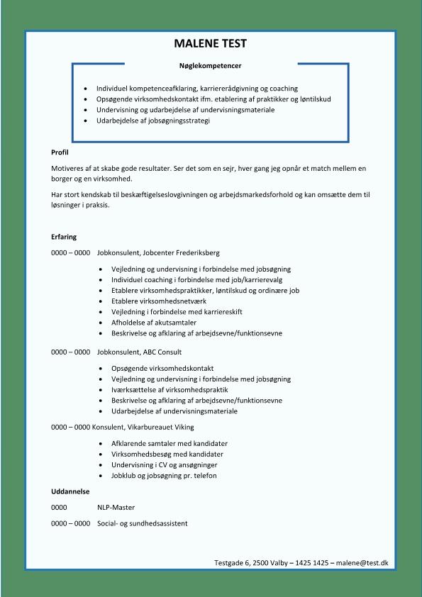 2 - CV jobkonsulent - jobformidler