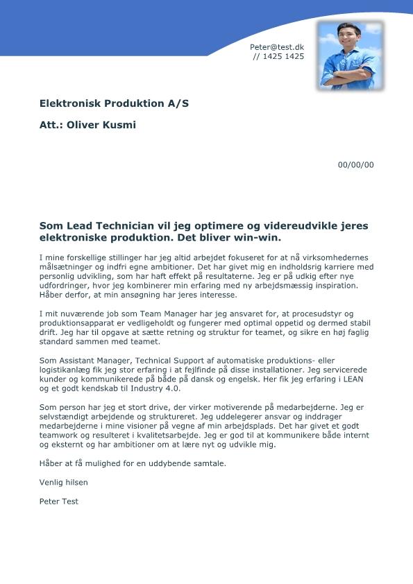 2-Uopfordret Lead Technician elektronisk produktion